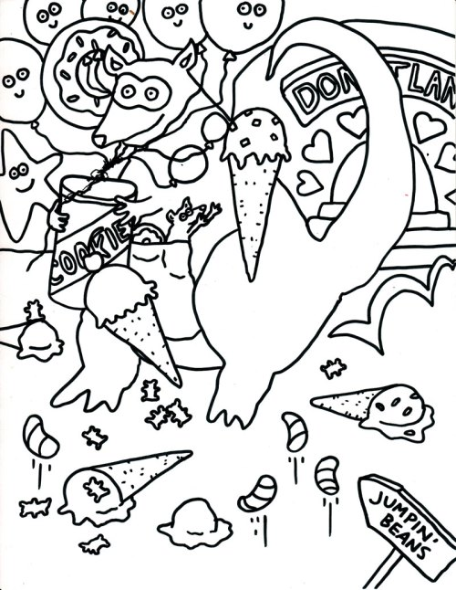 Camilla Padgitt-Coles, 'Coloring Page 2'