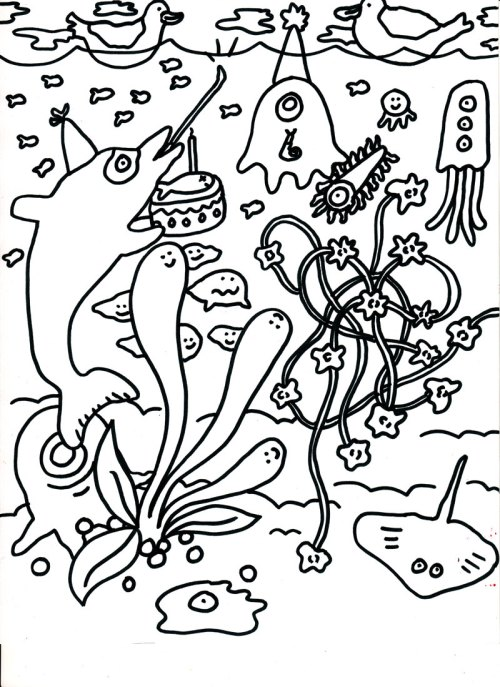 Camilla Padgitt-Coles, 'Coloring Page 3'