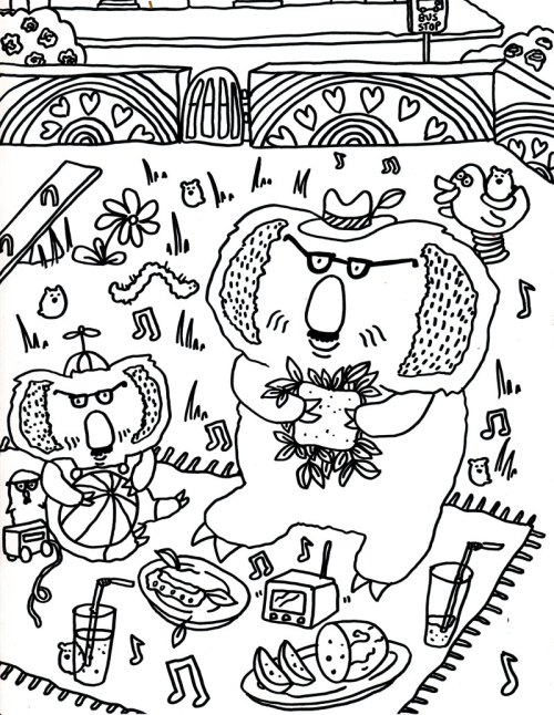 Camilla Padgitt-Coles, 'Coloring Page 4'
