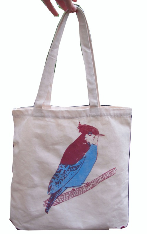 Elizabeth Graeber, 'Bird', Print on Canvas Bag
