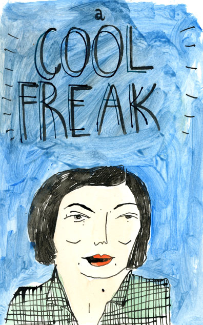 Elizabeth Graeber, 'Cool Freak', Ink & Watercolor