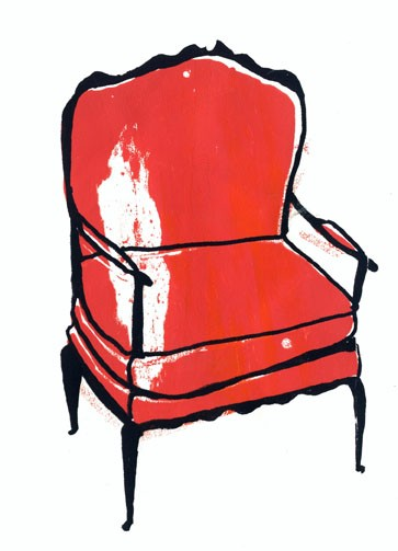 "Elizabeth Graeber, ""Chair"", Screen Print 1"