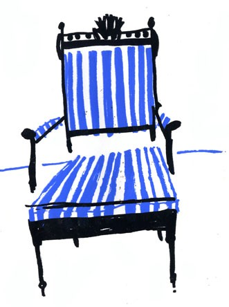 "Elizabeth Graeber, ""Chair"", Screen Print 2"