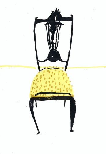 "Elizabeth Graeber, ""Chair"", Screen Print 3"