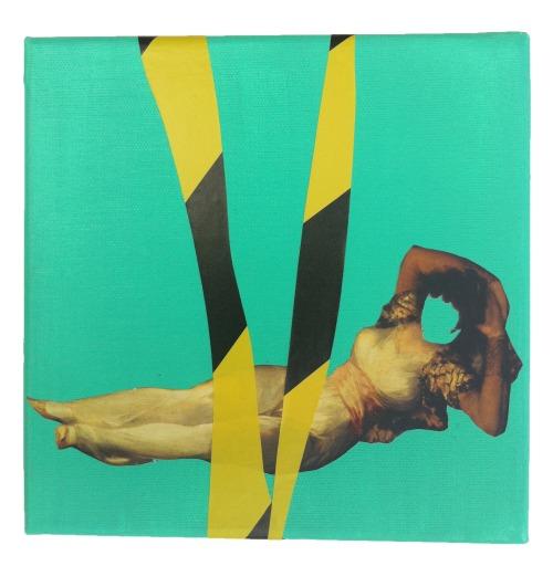 """Rachel England, """"Untitled"""", 8"""" x 8"""" Mixed Media on Canvas"""