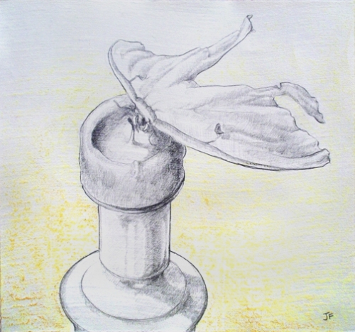 "Jessica Ford, ""Traditional Still Life 3,"" Graphite and Oil Pastel"
