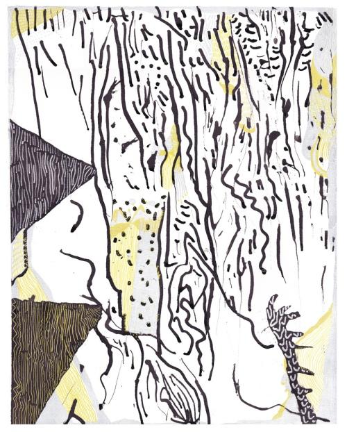"Stephanie Kwak, ""Winter Arithmetic,"" 14"" x 11,"" Ink on Bristol"