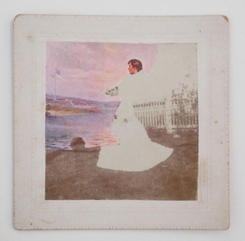 "Rachel England, ""Army Wife,"" Collage, 7"" x 7"""