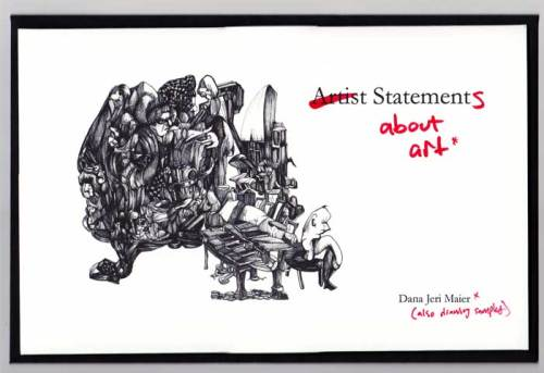 "Dana Maier, Folio Cover, ""Statements About Art"""