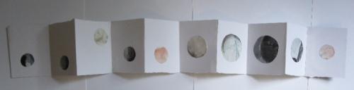 "Becca Kallem, ""Moon Book,"" Mixed Media"