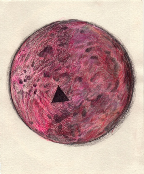 "Becca Kallem, ""Moon,"" Mixed Media"