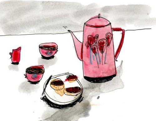 Elizabeth Graeber, Untitled, Ink and watercolor on paper