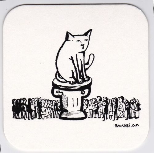Cat on Pedestal Coaster