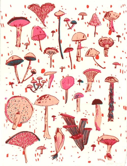 mushroom screen print-72